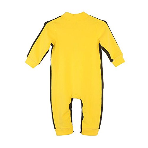 Fairy Baby Baby Boy Cotton Long Sleeve Jumpsuit Yellow Classic Romper,0-6M,Yellow