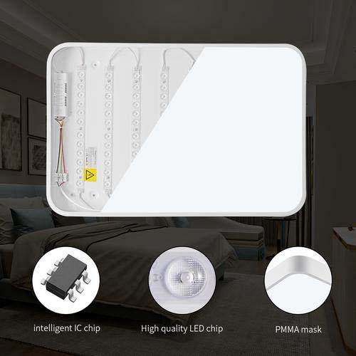 Lámparas de Techo, Sararoom 24W LED Blanco Frío Moderno Square Ultradelgado Luz de Techo Impermeable 6000k lm Panel LED de Techo para Salón Cocina Dormitorio De La Lámpara