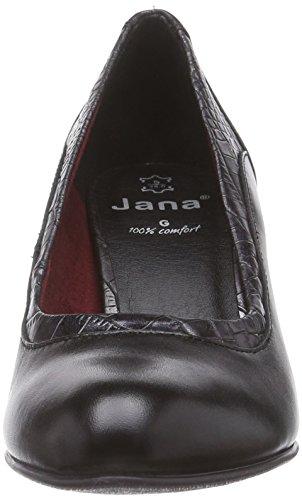 Nero schwarz Jana Tacco struct met Donna Con 22400 blk 097 Scarpe wnPqYP6x7X