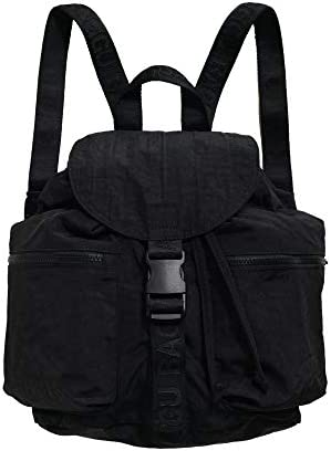 BAGGU Small Sport Backpack, a Lightweight Backpack for Everyday Use Black 2020