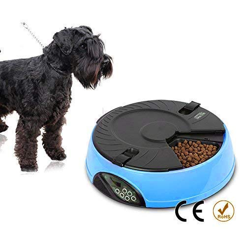 PETFLY Pyrus Automatic Pet Feeder Food Dispenser, Pet Dry Food Container with Voice Reminder & Large LCD Display Food Feeder for Dogs Cats, 5 L/1 Gallon Capacity (Blue) by PETFLY (Image #5)