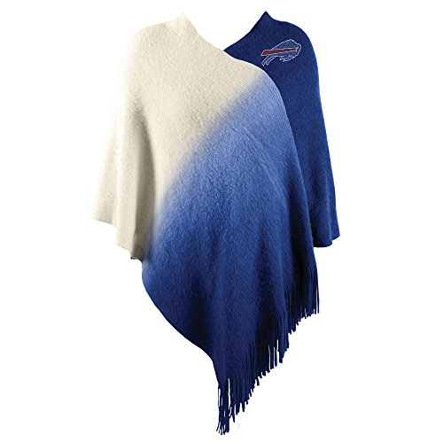 Littlearth NFL Buffalo Bills Dip Dye Poncho Acrylic Buffalo Bills Blanket