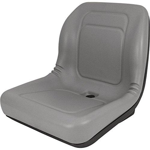 - Lawn & Garden UTV, Compact Tractor Seat Gray Vinyl B1LGT100GR, 53223