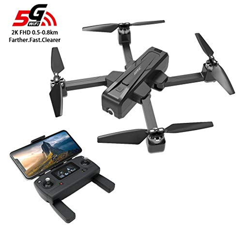 Klions JJR/C X11 5G WiFi FPV GPS RC Drone with 2.4GHz 2K HD Camera,Brushless,Follow Me Mode,Headless,One Key Return,Optical Flow Positioning,Black+Battery