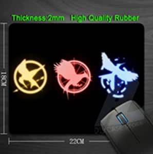 Top Quality The Hunger Games Icons Rubber Anti slip Mouse Pads for PC Computer Laptop Notbook