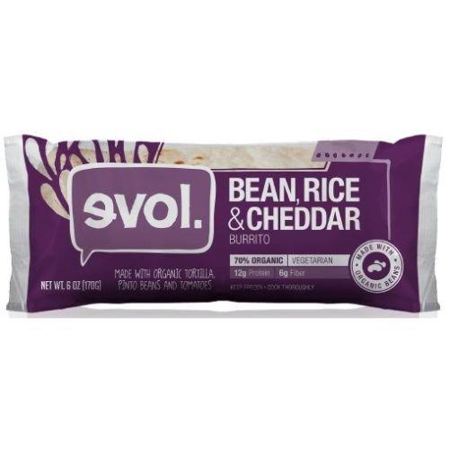 Evol Burritos - Pinto Bean, Rice and Cheese, 6 Ounce - 12 per case.