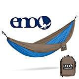 ENO - Eagles Nest Outfitters DoubleNest Hammock, Portable Hammock for Two, Teal/Khaki (FFP)