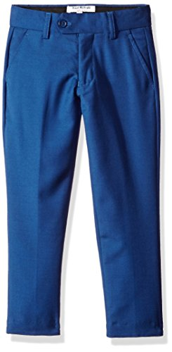 Isaac Mizrahi Boys' Big Wool Blend Slim Pant, Cobalt Blue 8 Husky