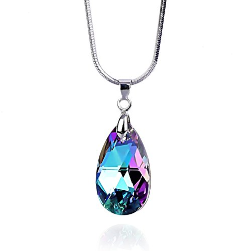 crystal teardrop pendant necklace - 2