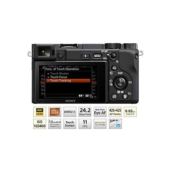 RetinaPix Sony Alpha ILCE-6400M 24.2MP Mirrorless Digital SLR Camera (Black) with 18-135mm Power Zoom Lens (APS-C Sensor, Real-Time Eye Auto Focus, 4K Vlogging Camera, Tiltable LCD) - Black