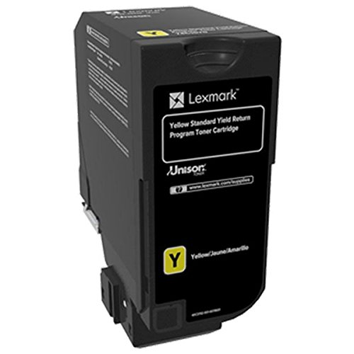 Yellow Print Lexmark - Lexmark Yellow Return Program Toner Cartridge for US Government, 7000 Yield (74C0SYG)