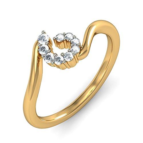 18K Or jaune, 0,12carat Diamant Blanc (IJ | SI) en diamant