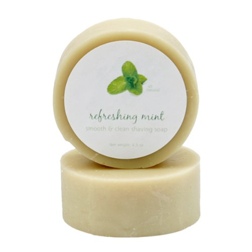 Peppermint Oil Shave Soap by MoonDance Soaps – Handmade Soap with Bentonite Clay and Peppermint Essential Oil