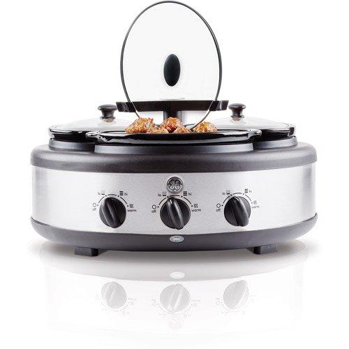 Cheap GE 3-Crock Round Slow Cooker – 1.5 Qt Crocks