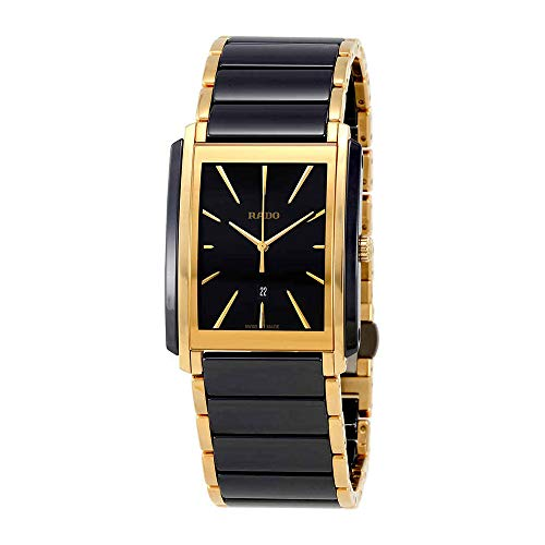- Rado Integral Two-tone Black Ceramic and Gold Mens Watch - R20968152