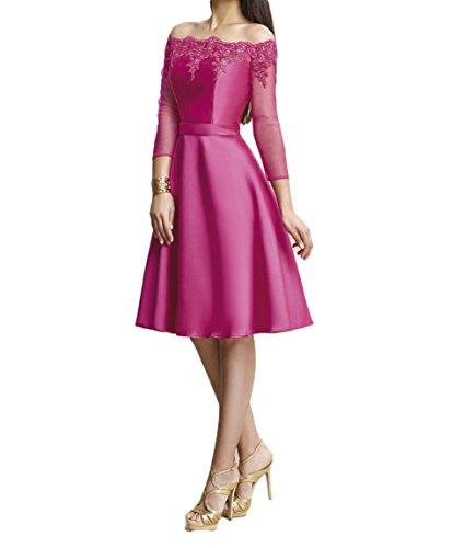 Promkleider Damen Partykleider Spitze Marie Pink Braut Brautjungfernkleider 2018 Knielang La Abendkleider Ow8pBWqH
