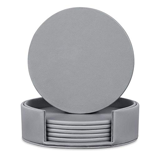 6 Pieces Grey Coasters