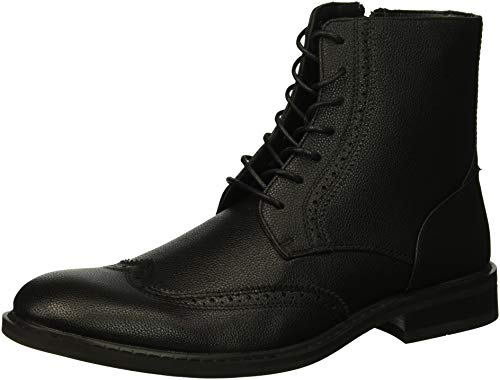 (Unlisted by Kenneth Cole Men's Buzzer Oxford Boot Black 7 M US)