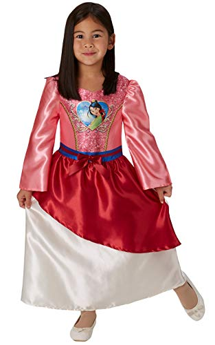 Rubie's 640826S Official Disney Princess Sequin Mulan Classic Costume, Small (Height 104 cm, Age 3-4 -