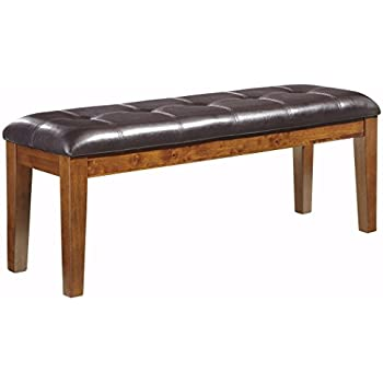 Ashley Furniture Signature Design   Ralene Dining Room Bench   Rectangular    Vintage Casual   Medium