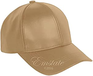 55861449 Emstate Genuine Cowhide Leather Adjustable Baseball Cap Made in USA