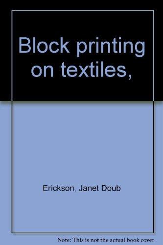 Block printing on textiles, ()