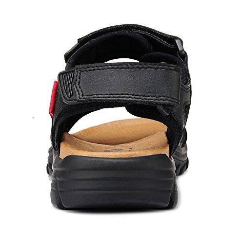 Sandalo Con Cinturino In Velcro Per Uomo In Pelle Dqq A