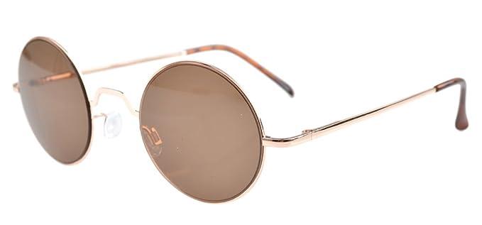 Eyekepper Federscharniere runde Brillen mit klare Linse Gold Rahmen AopY9h