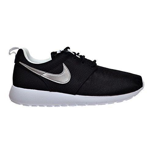 Nike Air Roshe One (GS) Big Kid's Shoes Black/Metallic Silver/White 599728-021 (6 M US) (Boys Nike Roshe Size 6)