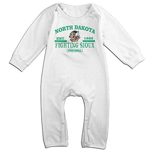 HOHOE NewBorn Boy's & Girl's University Of North Dakota Long Sleeve Jumpsuit Outfits White 24 (Britney Spears School Girl Costumes)