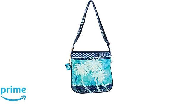 316470415ec6 Paul Brent Palm Tree Blue Crossbody Handbag One Size Blue