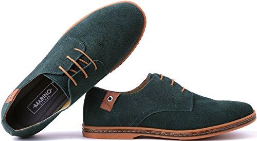 Zapatos De Vestir Oxford Para Hombres De Marino Suede - Zapatos Ocasionales De Negocios - Zapatos Clásicos De Hombre Tuxedo Hunter Green
