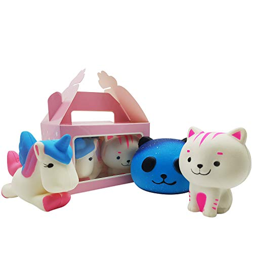 Original Stationery Squishies Toy – Panda, Unicorn, Cat - [Extra Squishy] Stress Relief Toy. Japanese Kawaii Carry Case [Super Cute CASE] Smooshy Mushy Style Animal. for Girls and Boys [Size: Large] ()