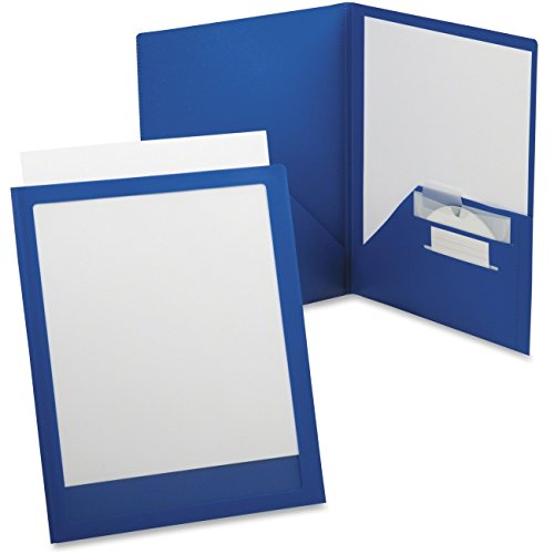 Portfolio, ViewFolio, Poly, 50 Sht Cap, LTR, Blue/Clear - 2pc