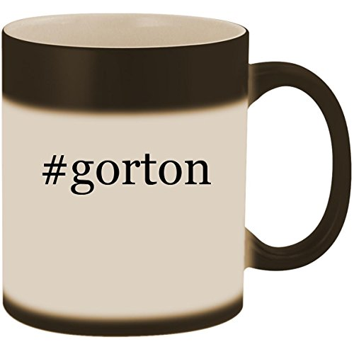 Black Vapor Clam - #gorton - 11oz Ceramic Color Changing Heat Sensitive Coffee Mug Cup, Matte Black