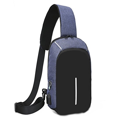 Leisure Outdoor Men's Blue Yxngbo Bag Multifunctional Chest Triangular Crossbody Uxvxq6