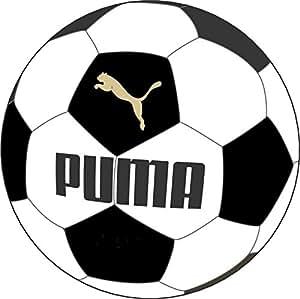 PUMA Ball King Force 6.11 081840 01 - Balón de fútbol (tamaño 3), color dorado, blanco y negro