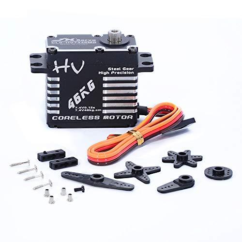 JX Servo CLS-HV7346MG 46kg Coreless High Precision Steel Gear Full CNC Digital Servo Motor for RC Car Robot Arm Helicopter Airplane Parts