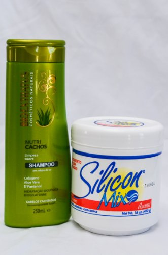 Combo: Shampoo Bioextractus Nutricachos 250ml + Silicon Mix Treatment 16 Oz (Silicon Mix Shampoo Hidratante compare prices)