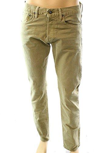 Polo Ralph Lauren Mens 34x30 Slim Straight Leg Jeans Beige - Polo Free Shipping