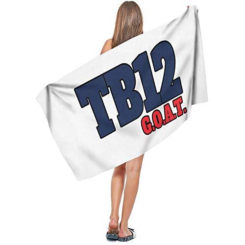 TablincoT TB12 Goat Multipurpose Ultra Soft Microfiber Towel Compact Bath Sheet for Beach,Travel,Gym,Yoga and Sports (27.5 x 55.1 Inch) (New England Patriots Yoga Mat)