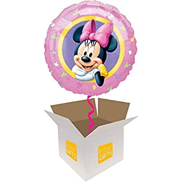 InterBalloon Helium Inflated Disney Minnie Mouse Balloon Delivered In A Box Amazoncouk Toys Games