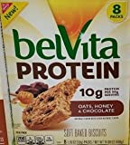BELVITA PROTEIN BISCUITS - OATS, HONEY, & CHOCOLATE, 8 CT. (PACK OF 4)