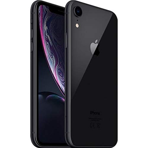 Apple iPhone XR, Fully Unlocked, 128 GB - Black (Renewed)
