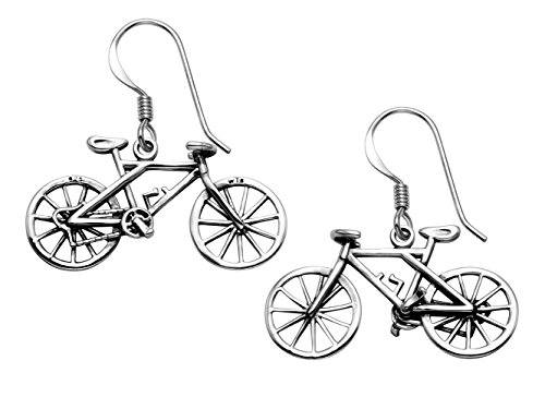 Sterling Silver Bicycle Wire Earrings