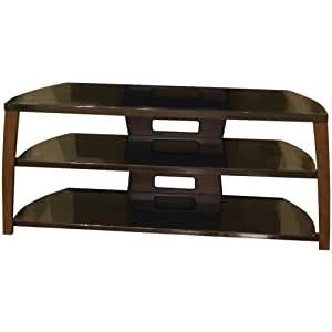 TechCraft Xii50W 50-Inch Wide Flat Panel TV Stand - Walnut Accents