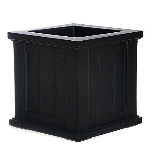 Cape Cod Patio Planter - Size: 14 x 14, Color: Black