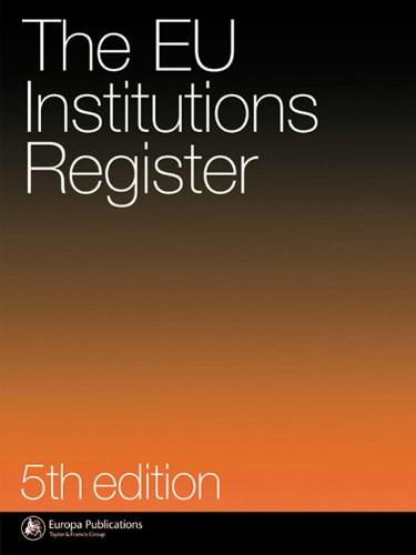 Download Eu Institutions Register: 5th Pdf