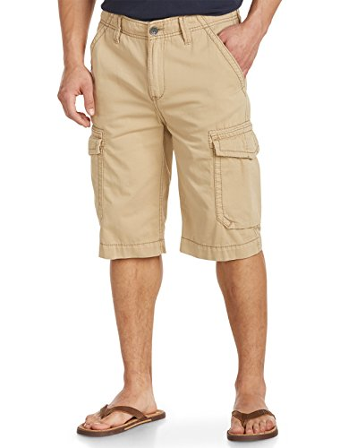 True Religion Big & Tall Trooper Cargo Shorts (48, Khaki) by True Religion