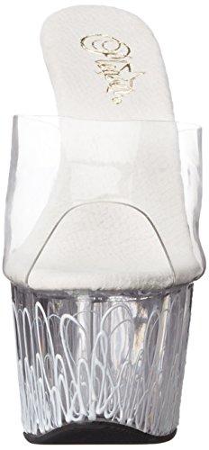 Pleaser White Women's NW Sandal Dress Neon Clear C Platform ADO701UVL C Clear rrfSwZq